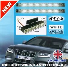 NEW 2 X ULTRA SUPER BRIGHT LED CAR LIGHTS DAYLIGHT RUNNING LIGHTS 12V VOLT UK