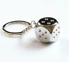 Dice Keychain Brand New High-class Car Key Ring Chain Metal Pendant