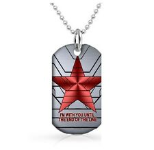 Winter Soldier dog tags Dog Tag 30 inch Ball Chain Included Till the end time