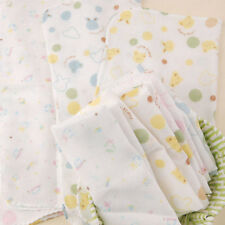 10x Cute Muslin Squares Baby Muslins Cloths Nappy Inserts 70cm 100% Cotton Bibs