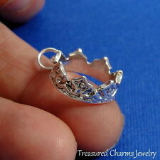 Silver ROYAL CROWN King Queen Princess Tiara Fairytale CHARM PENDANT