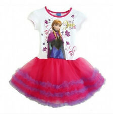 Princess Toodler Kids Girls Frozen Elsa Anna Party Layered Tulle Tutu Dress 1-6Y