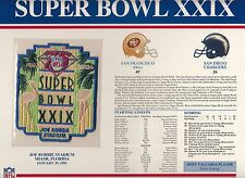 1995 SUPER BOWL XXIX SB 29 PATCH SAN FRANCISCO 49ERS SAN DIEGO CHARGERS WILLABEE