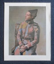Pablo Picasso - Seated Harlequin - Original Laminated Art Print