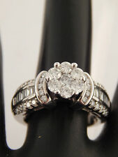 14k WG 1.26 tow Illusion Diamond Engagement Ring G/SI (center appears 2.0 ct)
