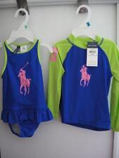 $79 NWT POLO BY RALPH LAUREN INFANT/BABY GIRLS SWIMSUIT & RASH GUARD SET 18M/24M