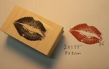 Kiss, Lips rubber stamp P6