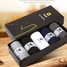 New 5 Pairs Men Wool Cashmere Thick Warm Soft Solid Casual Sports Socks