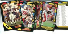 1991 WILD CARD FOOTBALL 8 CARD STRIPE INSERT LOT /5 /10 /20 /100
