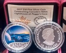 2017 $10 Pure Silver Coin Celebrating Canada's 150th: Lighthouse at Peggy's Cove