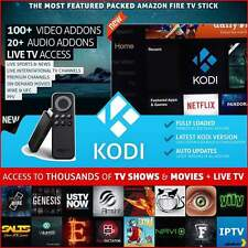 Doble Amazon Fire Stick con Kodi pulso, spmc, Mobdro + Canales indio