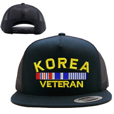 KOREA VETERAN MESH TRUCKER SNAP CLOSURE CAP HAT