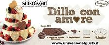 COOKIE ABC CUORE KIT COMPLETO SILIKOMART BISCOTTI CAKE DESIGN DECORAZIONI TORTE