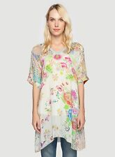 NEW JOHNNY WAS Overlay Floral Print Tunic - L - One 4 Summer Beach Season