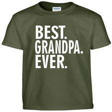 Best GRANDPA Ever Funny Fathers Day Birthday Christmas Papa Gift Tee T Shirt