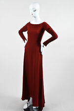 Narciso Rodriguez $1040 Red Jersey Off The Shoulder Gown SZ 6