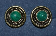 New Green Malachite Stud Earrings - Fairly Traded Ethnic Hippy Boho Ethical