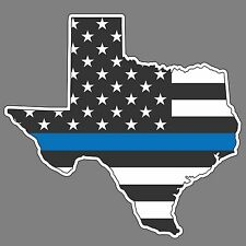 Blue Lives Matter Texas Police Ribbons Vinyl Decals Sticker Car Truck