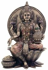 "8"" Seated Lakshmi Hindu Goddess Hinduism Statue Sculpture Figure Fortune"