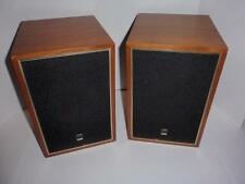 Pair of Vintage Claricon Wood Cabinet Bookshelf Speakers - From Japan - Work LN