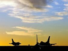 MILITARY AIR PLANE FIGHTER JET SILHOUETTE DAWN SUN RISE POSTER ART PRINT BB1103A