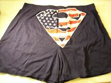 Superman US Flag Boxer Shorts Red White Blue Underwear S Small Sleep Briefs