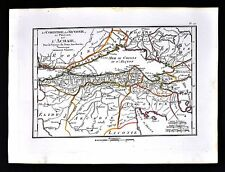 1822 Tardieu Map - Corinth Sicyonia Achaia Sea of Crissa Thebes - Ancient Greece