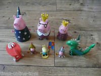 PEPPA PIG ROYAL FIGURES GRANDPA WIZARD KING DADDY QUEEN MOMMY KNIGHT GEORGE+MORE