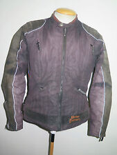 Señoras HARLEY DAVIDSON polyester/leather Motorcycle Biker Jacket L UK 12/14