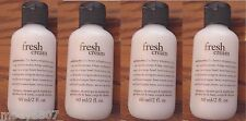 Set/4 -2 oz- PHILOSOPHY *FRESH CREAM* 3in1 Shampoo Shower Gel Bubble Bath Soap