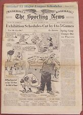 1-19-55 SPORTING NEWS TED WILLIAMS  KEN BOYER  MAJOR LEAGUE SCHEDULES