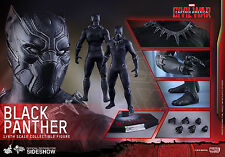 HOT TOYS CAPTAIN AMERICA: CIVIL WAR BLACK PANTHER 1:6 FIGURE ~Sealed Brown Box~