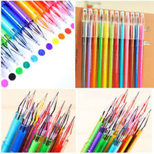 12Pcs Diamond Gel Pen School Supplies Draw Colored Pens Student Candy Color