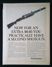 Vintage 1966 Winchester 1200 & 1400 Shotgun Rifle Full Page Ad