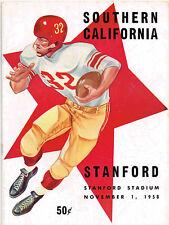 1958 USC vs STANFORD Football Program NCAA