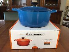 Le Creuset Round French (Dutch) Oven - 7.25 Qt. - Marseilles Blue - NIB!