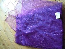 Luxury purple sequin tulle sheer bridal dressmaking fabric 14 metre lot