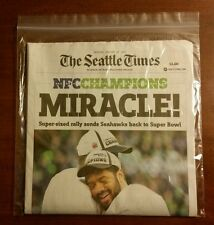 SEATTLE TIMES NEWSPAPER SEAHAWKS WIN NFC CHAMPIONSHIP MONDAY EDITION 1/19/15