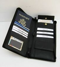 Leather Wallet Passport Boarding Pass ID Card Holder Travel Cover Organizer Zip