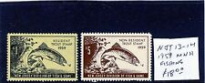 New Jersey 1959 Fish stamps, Resident and Non-resident, MNH