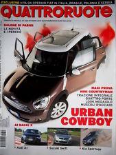 Quattroruote 660 2010 Prova Mini Cooper D Countryman ALL4. Audi A1. Kia [Q.62]