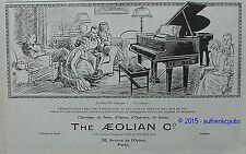 PUBLICITE THE AEOLIAN DUO ART PIANO OPERA SALON ART DECO DE 1925 FRENCH AD PUB
