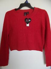 I Love Boy Meets Girl pullover Red Metallic acrylic sweater, Girls/Junior Sz L