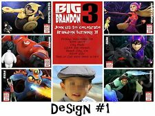Big Hero 6 Personalized Birthday Party Invitations and Thank You Card (DIY)