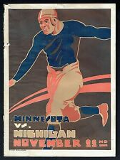 1918 MICHIGAN v. MINNESOTA Vintage Football Game Program (RARE, War Time)