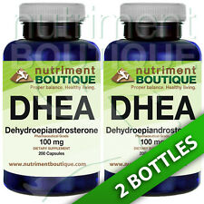 DHEA 100mg 2X200 Capsules Pharmaceutical Grade by Nutriment Boutique