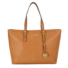 Michael Kors Jet Set Travel Saffiano Leather Tote - Luggage