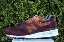 NEW BALANCE 997 MADE IN USA SZ 13 BURGUNDY BROWN GREY M997DSLR