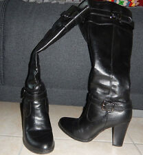 winter SEXY BOOTS ankle strap heels high knee woman perfect condition US 7 EU 37