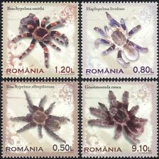 Romania 2010 Tarantulas/Spiders/Insects/Nature/Arachnids/Conservation 4v n44683